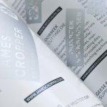 Plain Paper Surface Magazine Colophon